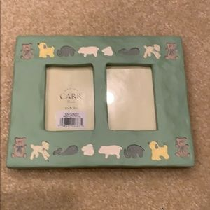 NWT Carr Painted Dual Photo Frame
